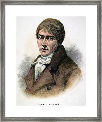 John Loudon Mcadam Framed Print