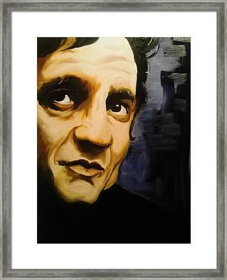 Johnny Cash Framed Print by Matt Burke