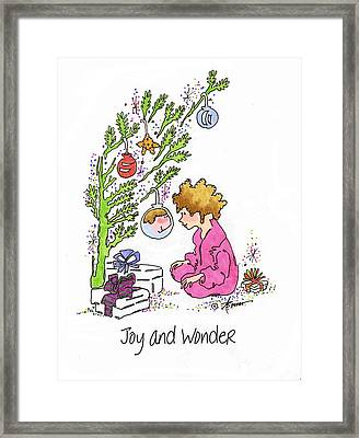 Joy And Wonder Framed Print