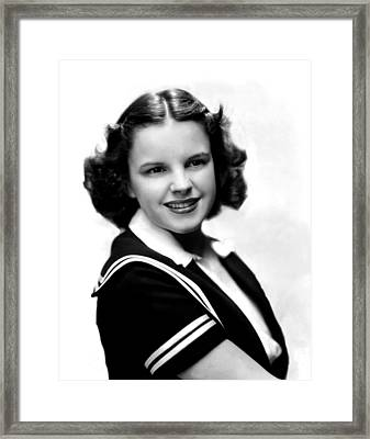 Judy Garland, Portrait Framed Print by Everett