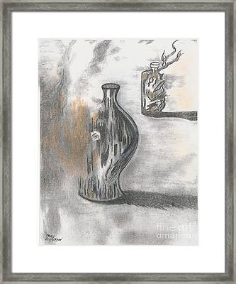 Jug And Bottle Framed Print