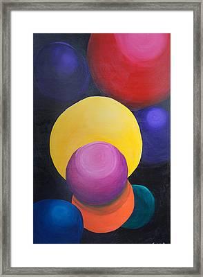 Juggling Balls Framed Print