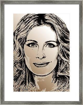 Julia Roberts In 2008 Framed Print by J McCombie