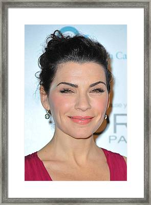 Julianna Margulies At Arrivals Framed Print by Everett