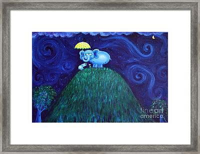 Jumbo Love Framed Print by Jennifer Alvarez