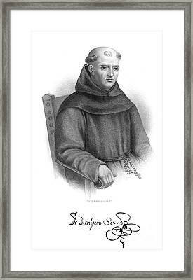 Jun�pero Serra (1713-1784) Framed Print by Granger