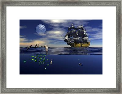 Framed Print featuring the digital art Just Passing by Claude McCoy