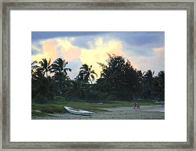 Kailua Beach Sunset Framed Print