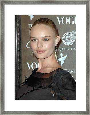 Kate Bosworth At Arrivals For The Art Framed Print