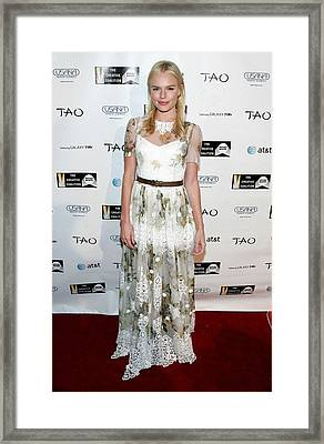 Kate Bosworth Wearing A Dolce & Gabbana Framed Print by Everett
