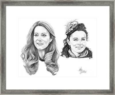Kate Middleton Framed Print by Murphy Elliott
