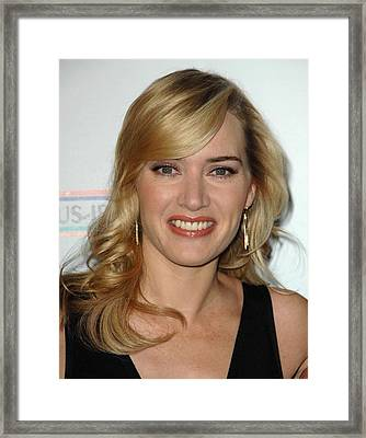 Kate Winslet At Arrivals For 4th Annual Framed Print by Everett
