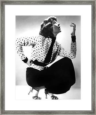 Katharine Hepburn, 1930s Framed Print by Everett