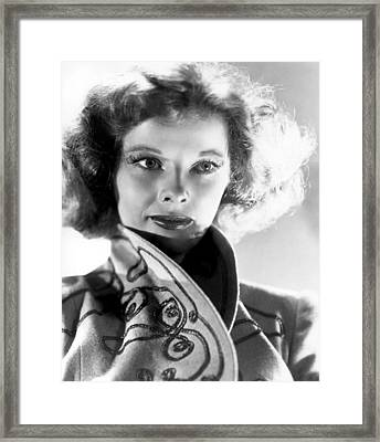 Katharine Hepburn In The 1930s Framed Print by Everett