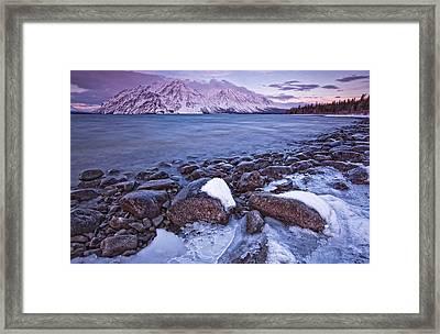 Kathleen Lake At Sunrise, Kluane Framed Print by Robert Postma