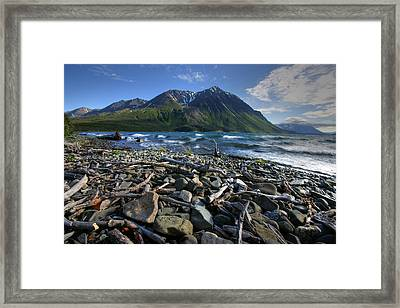 Kathleen Lake, Kluane National Park Framed Print by Robert Postma
