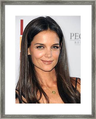 Katie Holmes Wearing A Jennifer Meyer Framed Print by Everett