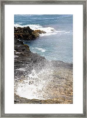 Kauai Spray Framed Print by Linda Dunn