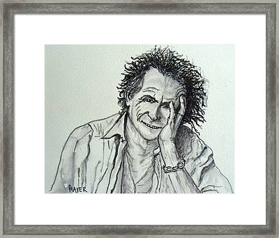 Keef Framed Print by Pete Maier