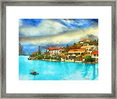Kefalonia Fiscardo Framed Print by George Rossidis