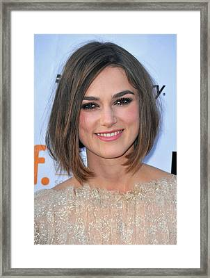 Keira Knightley At Arrivals For A Framed Print