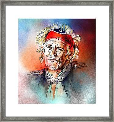 Keith Richards Framed Print by Miki De Goodaboom