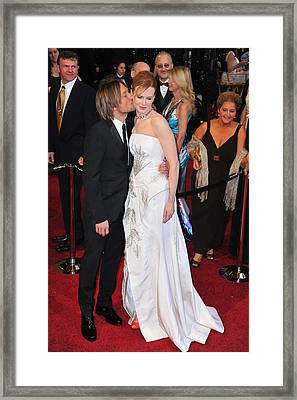 Keith Urban, Nicole Kidman At Arrivals Framed Print by Everett