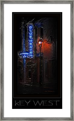 Key West Florida - Blue Heaven Rendezvous Framed Print