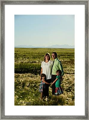 Kim Chris And The Girls Framed Print