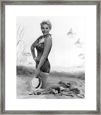 Kim Novak, Columbia Pictures, 1956 Framed Print