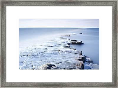 Kimmeridge Bay Framed Print by Brian Lawrence