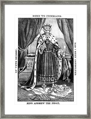 King Andrew The First Framed Print