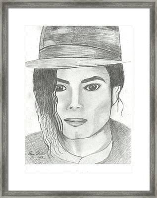 King Of Pop Framed Print by Gary Miller