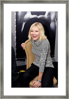 Kirsten Dunst At The Press Conference Framed Print by Everett