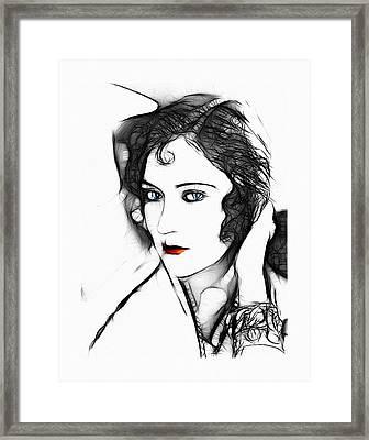 Kiss Me  Framed Print by Steve K