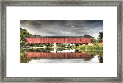 Kissing Bridge Montrose Ontario Canada Framed Print