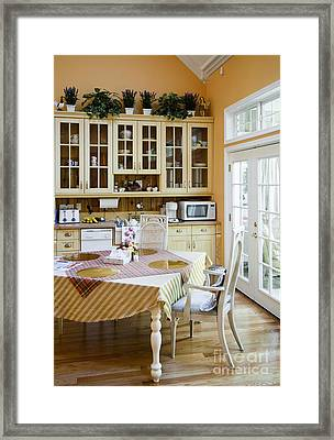 Kitchen Cabinets And Table Framed Print
