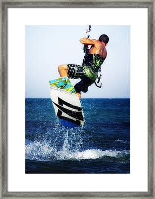 Kitesurfer Framed Print by Stelios Kleanthous