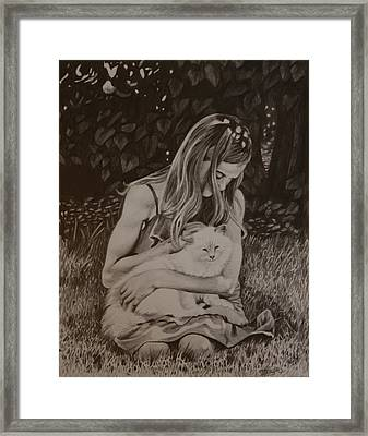 Kitty Love Framed Print