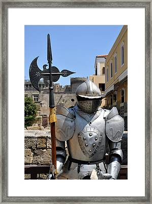 Knight Armor. Framed Print