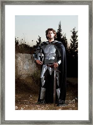 Knight In Shining Armour Framed Print by Yedidya yos mizrachi