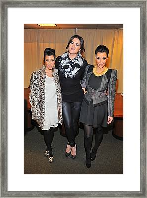 Kourtney Kardashian, Khloe Kardashian Framed Print by Everett