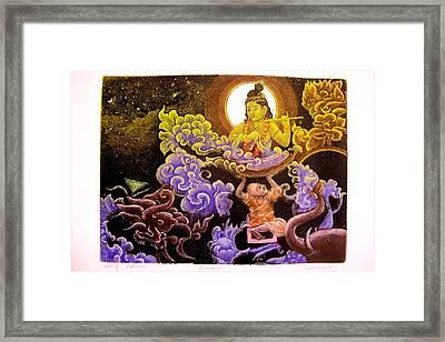 Krishna Leela Framed Print by Indra Khatri