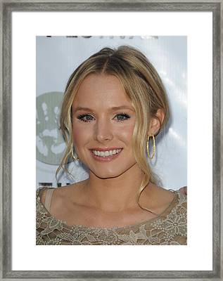 Kristen Bell At Arrivals For Artivist Framed Print by Everett