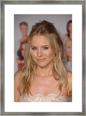 Kristen Bell At Arrivals For You Again Framed Print by Everett
