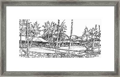 Kukio Estate Framed Print by Andrew Drozdowicz