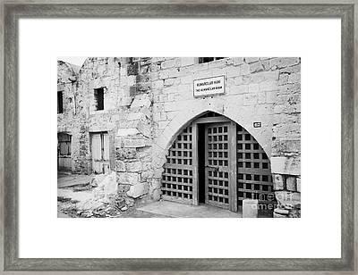 Kumarcilar Han The Gamblers Inn In Nicosia Trnc Turkish Republic Of Northern Cyprus Framed Print