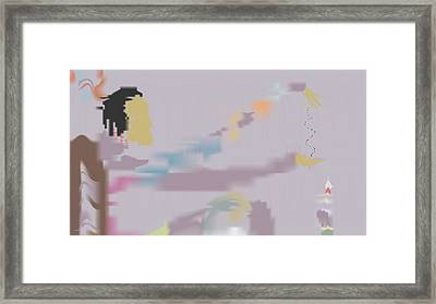 Framed Print featuring the painting Kundalini Reveals Dna by Kevin McLaughlin