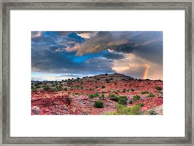 La Bajada Hills Framed Print