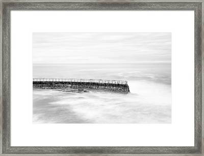 La Jolla Seawall Framed Print by Tanya Harrison